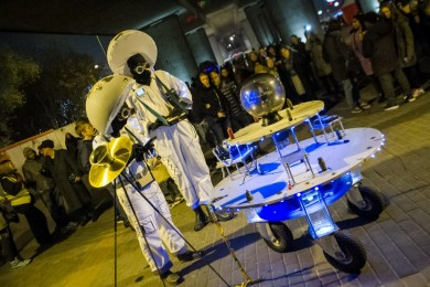 Blanc Sceol perform at Light Night Canning Town 2014.